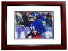 Aaron Ross Signed - Autographed New York Giants 8x10 inch Photo MAHOGANY CUSTOM FRAME - Guaranteed to pass PSA or JSA - 2x Super Bowl Champion