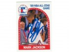 Mark Jackson New York Knicks Autographed 1989-90 Hoops Card