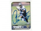 Chris Warren Dallas Cowboys Autographed 1998 UD Choice Card