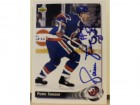 Pierre Turgeon New York Islanders Autographed 1992-93 Upper Deck Card