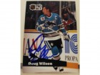 Doug Wilson San Jose Sharks Autographed 1991-92 Pro Set Card