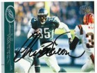 Chris Warren Philadelphia Eagles Autographed 2001 Pacific Card