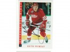 Keith Primeau Detroit Red Wings Autographed 1993-94 Score Card
