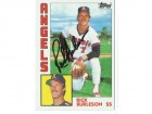 Rick Burleson California Angels Autographed 1984 Topps Card