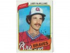 Larry McWilliams Atlanta Braves Autographed 1989 Topps Card