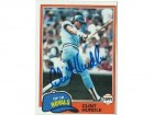 Clint Hurdle Kansas City Royals Autographed 1981 Topps Card