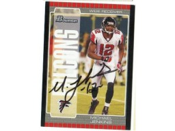 Michael Jenkins Atlanta Falcons Autographed 2005 Bowman Card