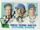 Terry Leach and Ron Gardenhire New York Mets Dual Autographed 1982 Topps Card