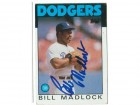 Bill Madlock Los Angeles Dodgers Autographed 1986 Topps Card
