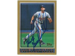 Mark Grudzielanek Montreal Expos Autographed 1998 Topps Card
