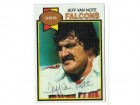 Jeff Van Note Atlanta Falcons Autographed 1979 Topps Card