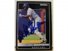 Mike Sharperson Los Angeles Dodgers Autographed 1992 Pinnacle #167. This item comes with a certificate of authenticity from Autograph-Sports.