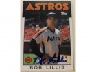 Bob Lillis Houston Astros Autographed 1986 Topps Card #561. This item comes with a certificate of authenticity from Autograph-Sports.