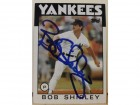 Bob Shirley New York Yankees Autographed 1986 Topps Card #213. This item comes with a certificate of authenticity from Autograph-Sports.
