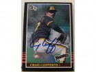 Craig Lefferts San Diego Padres Autographed 1985 Donruss Card #261. This item comes with a certificate of authenticity from Autograph-Sports.