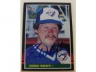 Ernie Whitt Toronto Blue Jays Autographed 1985 Donruss Card #268. This item comes with a certificate of authenticity from Autograph-Sports.