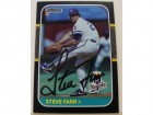 Steve Farr Kansas City Royals Autographed 1987 Donruss Card #301. This item comes with a certificate of authenticity from Autograph-Sports.
