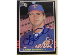 Larry Parrish Texas Rangers Autographed 1985 Donruss Card #300. This item comes with a certificate of authenticity from Autograph-Sports.
