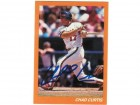 Chad Curtis California Angels Autographed Custom Card