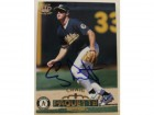 Craig Paquette Oakland Athletics Autographed 1996 Pacific Card #390. This item comes with a certificate of authenticity from Autograph-Sports.