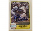 John Wathan Kansas City Royals Autographed 1981 Fleer Card #286. This item comes with a certificate of authenticity from Autograph-Sports.
