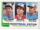 Terry Francona & Bryn Smith Montreal Expos Dual Autographed 1982 O-Pee-Chee Card