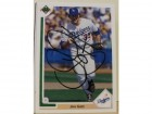 Jim Gott Los Angeles Dodgers Autographed 1991 Upper Deck Card #690. This item comes with a certificate of authenticity from Autograph-Sports.