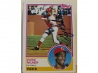 Eddie Milner Cincinnati Reds Autographed 1983 Topps Card #449. This item comes with a certificate of authenticity from Autograph-Sports.