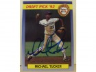 Michael Tucker Kansas City Royals Autographed 1992 Front Row Card #39. This item comes with a certificate of authenticity from Autograph-Sports.
