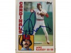 Mike Ramsey St. Louis Cardinals Autographed 1984 Topps Card #467.  This item comes with a certificate of authenticity from Autograph-Sports.