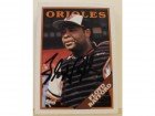 Floyd Rayford Baltimore Orioles Autographed 1988 Topps Card #296. This item comes with a certificate of authenticity from Autograph-Sports.