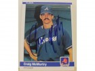 Craig McMurtry Atlanta Braves Autographed 1984 Fleer Card #184. This item comes with a certificate of authenticity from Autograph-Sports.