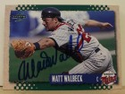 Matt Walbeck Minnesota Twins Autographed 1995 Score Card #265. This item comes with a certificate of authenticity from Autograph-Sports.