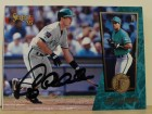Greg Colbrunn Florida Marlins Autographed 1995 Select Card #137. This item comes with a certificate of authenticity from Autograph-Sports.