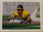 Eric Fox Oakland Athletics Autographed 1993 Upper Deck Card #781. This item comes with a certificate of authenticity from Autograph-Sports.