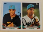 Daniel Robinson & Clemente Nunez Florida Marlins Dual Autographed 1993 Topps Card #599. This item comes with a certificate of authenticity from Autograph-Sports.