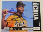 Alex Ochoa Baltimore Orioles Autographed 1994 Upper Deck Card #646. This item comes with a certificate of authenticity from Autograph-Sports.