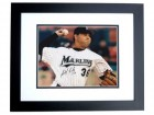 Anibal Sanchez Signed - Autographed Florida Marlins 8x10 inch Photo BLACK CUSTOM FRAME - Guaranteed to pass PSA or JSA