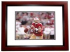 Alex Smith Signed - Autographed San Francisco 49ers 8x10 inch Photo MAHOGANY CUSTOM FRAME - Guaranteed to pass PSA or JSA