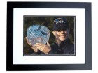 Annika Sorenstam Unsigned 8x10 inch Golf Photo BLACK CUSTOM FRAME