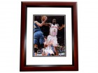 Amare Stoudemire Autographed New York Knicks 8x10 Photo MAHOGANY CUSTOM FRAME