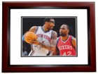 Amar'e Stoudemire Signed - Autographed New York Knicks 8x10 inch Photo MAHOGANY CUSTOM FRAME - Guaranteed to pass PSA or JSA - Amare Stoudemire