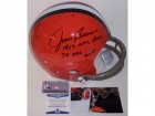 Jim Brown Autographed Hand Signed Cleveland Browns Throwback Full Size Helmet - BAS Beckett