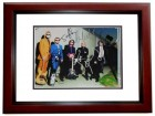 Aerosmith Signed - Autographed 11x14 inch Photo MAHOGANY CUSTOM FRAME - Guaranteed to pass PSA or JSA signed by Steven Tyler, Tom Hamilton, Joey Kramer, Brad Whitford, and Joe Perry