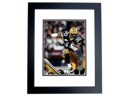 Ahman Green Autographed Green Bay Packers 8x10 Photo BLACK CUSTOM FRAME