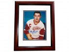 Alex Delvecchio Signed - Autographed Detroit Red Wings 8x10 inch Photo with Hall of Fame Inscription MAHOGANY CUSTOM FRAME - Guaranteed to pass PSA or JSA