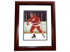 Alex Delvecchio Signed - Autographed Detroit Red Wings 8x10 inch Photo MAHOGANY CUSTOM FRAME - Guaranteed to pass PSA or JSA - Hall of Famer