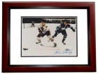 Allan Stanley Signed - Autographed Toronto Maple Leafs 8x10 inch Photo MAHOGANY CUSTOM FRAME - Guaranteed to pass PSA or JSA - Hall of Famer