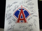 Los Angeles Angels (2013) Signed Replica Full Size base by the 2013 Los Angeles Angels Team