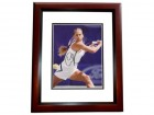 Anna Kournikova Signed - Autographed Tennis 8x10 inch Photo MAHOGANY CUSTOM FRAME - Guaranteed to pass PSA or JSA